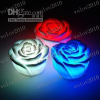 Wholesale LLFA1647 LED Rose Light Colors Changing Tea Battery Romantic Birthday