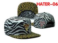 Wholesale Popular Designer Hater Snapbacks Unique Tiger Camo Print Yellow Cheetah Brim Snap Back Hats with Bling Gold Label Hot Sale Custom Caps