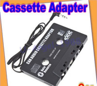 Wholesale New brand Car mm car music Audio Cassette Adapter for iPod MP3 CD iPhone