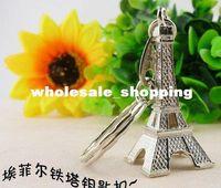 Fashion souvenir keychain - retail D Eiffel Tower French france souvenir paris KeyChain Ring keyring keyfob cute Adornment ZF024