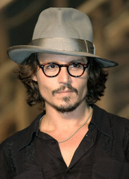 Retro Vintage Johnny Depp Eyeglasses Tortoise with Clear Lens