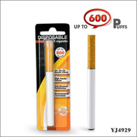 Electronic Cigarette Set Series  YJ4929 600 puff 300mAH Disposable E Cigar disposable electronic cigarettes single disposable e- cig Blister pack 20pcs lot