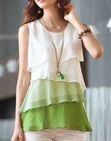 Wholesale New Womens Tiered Career Casual Chiffon Sundress Tops Blouse Fashion