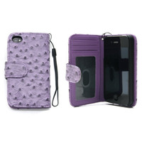 Wallet Case for iPhone 4 Iphone 4 Ostrich Wallet Case