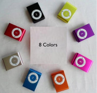 Wholesale Brand New Fashion Mini Clip Metal MP3 Player Support GB GB GB SD TF Card Xmas Gift