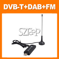 Wholesale Mini Digital TV Stick DHL USB DVB T DAB FM HD TV Stick Tuner FM Receiver