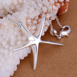 Mix Style Fashion 925 Silver Pendants Charms Necklaces Jewelry Woman Charms Necklaces Lovely Fish Star Pendant Necklace Girl Ladies Necklace