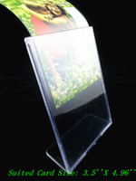 Wholesale X plastic acrylic table sign display menu paper card holder frame stand pc insert paper vertical directly
