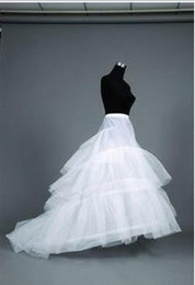 Wholesale Ivory Hoop Layers Tulle Train Petticoat Underskirt Prom Party Wedding Dress