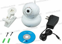 Wholesale New G TF Card SD Card WPA Wireless Wifi Baby Monitor Dual Audio P2P Home Security Surveillance White IP CCTV Camera MYY5294
