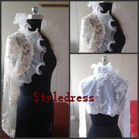 Cheap Lace wedding Jacket Best Jacket Long Sleeves bridal jacket