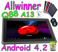Wholesale Q88 inch Android Allwinner A13 Tablet PC Dual Camera MB GB Wifi Capacitive Touch Screen