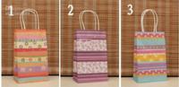 Wholesale 3 Color CM Fashion Hand Length Handle Paper Bag CM kraft paper bag