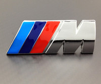 Wholesale Excellent Blue red original edition M metal car badge sticker for BMW M3 M5 M6 Series X1 X3 X5 X6 Z4 E36 E46 E92 car emblem