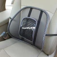 Rubber Rear 2pcs New Car Seat Chair Massage Back Lumbar Support Mesh Ventilate Cushion Pad Black Free shipping