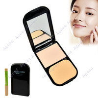 Wholesale 2013 Women s Clear Invisible Pressed Powder Foundation Makeup Compact Cake Powder with Concealer Pencile