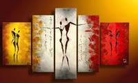 Wholesale HJ8973 pc Modern Oil Painting On Canvas larger art no framed