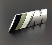 bmw m3 badges - Excellent Black gray White M metal car badge emblem sticker for BMW M3 M5 M6 Series X1 X3 X5 X6 Z4 E36 E46 E92 car emblem