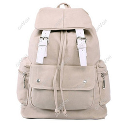 Wholesale S5Q Candy Color Women Girls Backpack Bookbags Travel School Shoulder Bags AAACAP