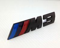 Tail bmw m3 badges - Excellent M M3 Power Chrome Metal car Badge Sticker For BMW M i i E36 E46 E92 Unique black color car emblem