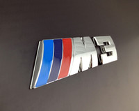 Wholesale Excellent D Design M3 Power Logo Chrome Metal car Badge Emblem Sticker For BMW M i i E36 E46 E92 sliver color car emblem