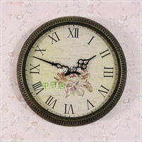 Mechanical Wall Clocks Metal Free Shipping, Movement single face wall clock wrought iron wall clock fashion wall clock rustic wall clock yd8277