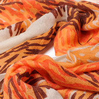 Wholesale 2013 Fashionable and elegant printing high quality wool cashmere scarf SWC702