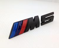 Tail aluminum varnish - Excellent quality baking varnish metal D M5 power car sticker metal badge for BMW M E39 E60 E61A i i i car emblem