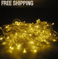 Wholesale Merry Christmas m LED Colors Energy String Fairy Lights Warterproof Party Christmas Garden Outdoor RGB single color