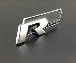 Excellent 3D metal R-Line car rear emblem sticker logo badge,for volkswagen all car,Chrome Plated Metal Emblem, black color