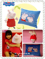 Unisex Big Kids Movies & TV Free shipping 1pc Peppa Pig Snuggle Reversible Pillow magic toy 45cm george stuffed animal plush toys kids gift birthday present