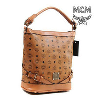 Wholesale Popular Yellowish Brown MCM Bags for Women Graceful Designer Tote Bags with PU Leather Lightweight Ladies Handbags for Shopping