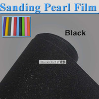 Wholesale FREE SHIPINPG Black Sanding Pearl Style Wrapping Film Pearl Powder Luster Carbon Vinyl Film for Car Body Size1 x Meter