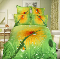 Wholesale one bedding set D AB Pattern Cotton Reactive Twill Print Flowers Bedding Set Quilt Pillow Cover Sheet