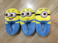 Wholesale New Arrival Despicable Me Minions Plush Stuffed Slippers Cuddly Fluffy Collectible Jorge quot HK Post Tracking Numer