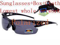Wholesale 2013Wholesale Polarized Sunglasses Hot Sales Outside Sports Sunglasses Bycicle for Men Women Sunglasses Box Cloth