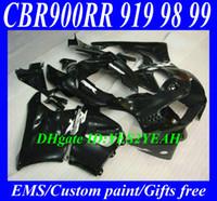 Wholesale Fairing kit for HONDA CBR900RR CBR RR CBR900 CBR RR gloss black ABS Fairings set gifts Hs23