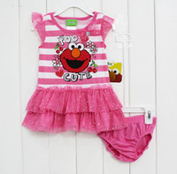 Girl baby sesame street - Brand New Baby Girls Toddlers M M M Sesame Street Summer Clothing Shirts Dress amp Baby Briefs Shorts Cartoon Casal Wear