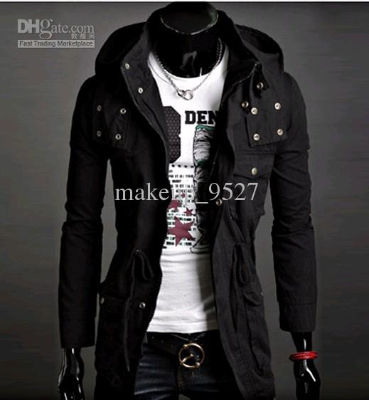 Korean Men Hooded Sweater Jacket Online | Korean Men Hooded