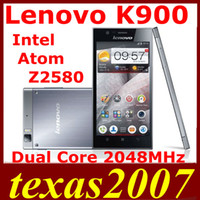 Lenovo Android 2G 5.5 inch 1920x1080 FHD IPS Screen lenovo K900 Intel Atom Z2580 2GHz Dual Core 2G+16G Android 4.2 bluetooth GPS hot sale