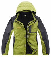 Wholesale Men outdoor jacket warm in1 fleece waterproof breathable windbreaker jacket C1218