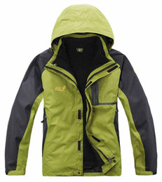 Мужчины открытый куртки теплые 2 in1 ватки водонепроницаемый дышащая куртка ветровка # C1218