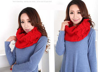 Wholesale Lady Scarves Fashion Cheap Knitting Wool Neckerchief Style OK Quality with A10