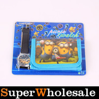 Wholesale New Cartoon Despicable Me Purses Wallets and Wrist Watch Sets