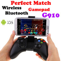 Wholesale New Wireless Bluetooth Gamepad G910 With Double Rocker Shaft keys For Android iOS Windows Cell Phone Tablet PC Mini TV Box PC