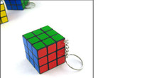 Wholesale Keychain Rubik s cube x3x3cm Puzzle Magic Game Toy Key chain