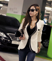 Women's spring coats - high quality women s Jacket SWEATER spring cute fashion slim pure long sleeve polyester V neck women s Casual suits Blazers coat