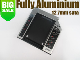 Wholesale 12 mm nd SSD HDD HD Aluminum Hard Disk Driver SATA Caddy For CD DVD ROM Optical Bay Universal Caddy High quality