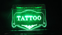 Wholesale BJT LED Sign Tattoo Shop NEW Neon Sign Tattoo Light Signs mix color Tattoo supplies