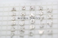 Wholesale assorted initials letters A Z crystal designs floating charms for glass memory living floating locket pendant Xmas gift no locket
